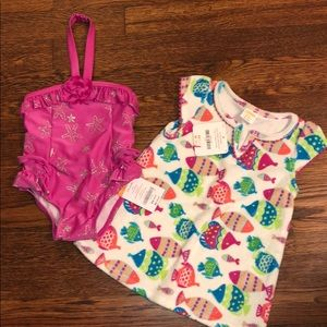 Gymboree-BRAND NEW Bathing Suit & Coverup